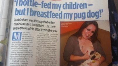 Une femme allaite son chien depuis 2 ans !